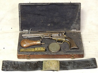 Civil War Colt 1849 Pocket Percussion Revolver Soldier Ensemble