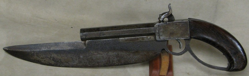 "C.S. Navy Cutlass Pistol with 11"" Bowie Blade"