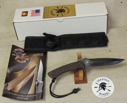Spartan Blades Ares Fighter / Combat Knife & Molle Sheath NIB