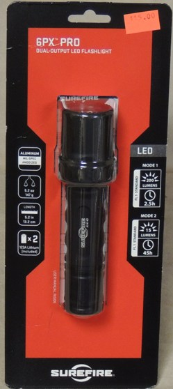 SureFire 6PX PRO 200 Lumen Dual-Output LED Flashlight NIB