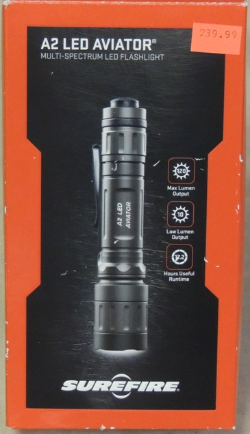 SureFire A2 LED Aviator 120 Lumen Dual-Spectrum Flashlight